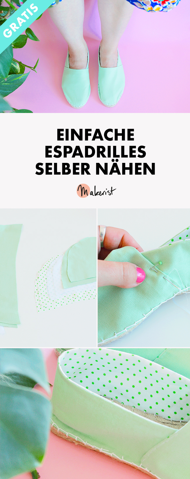 Makerist espadrilles pin