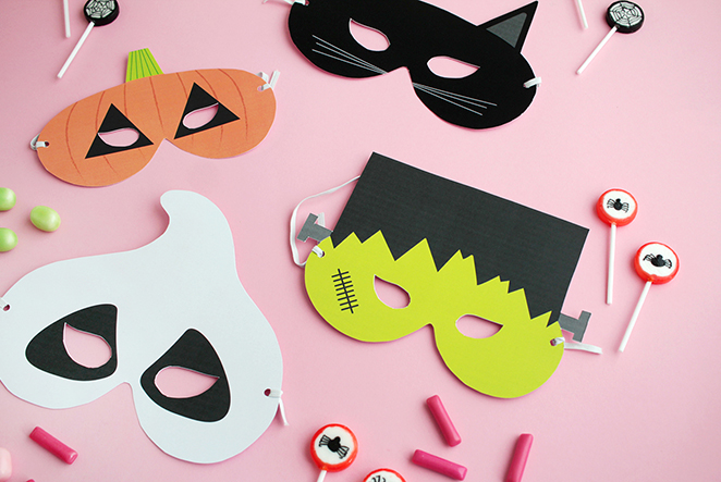 Makerist gratis printable halloween masken main