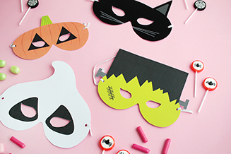 Makerist gratis printable halloween masken tile