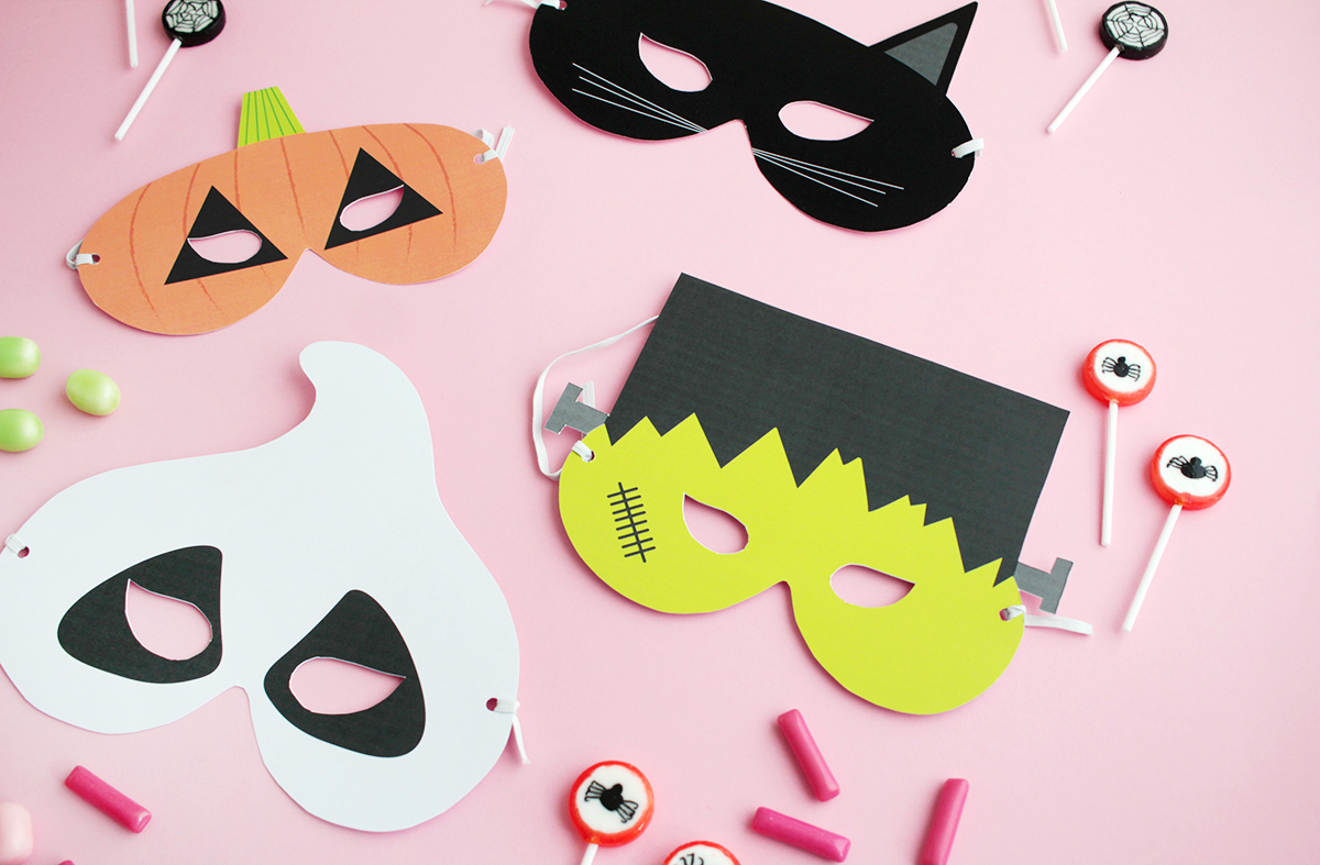 Makerist gratis printable halloween masken (1)