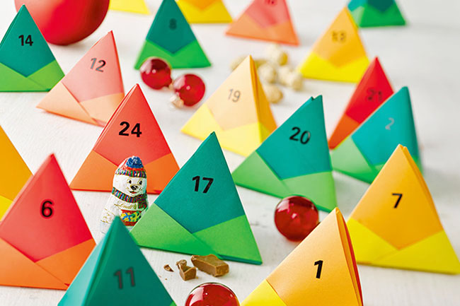 Makerist adventskalender aus papier falten