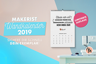 Makerist wandkalender 2019 tile