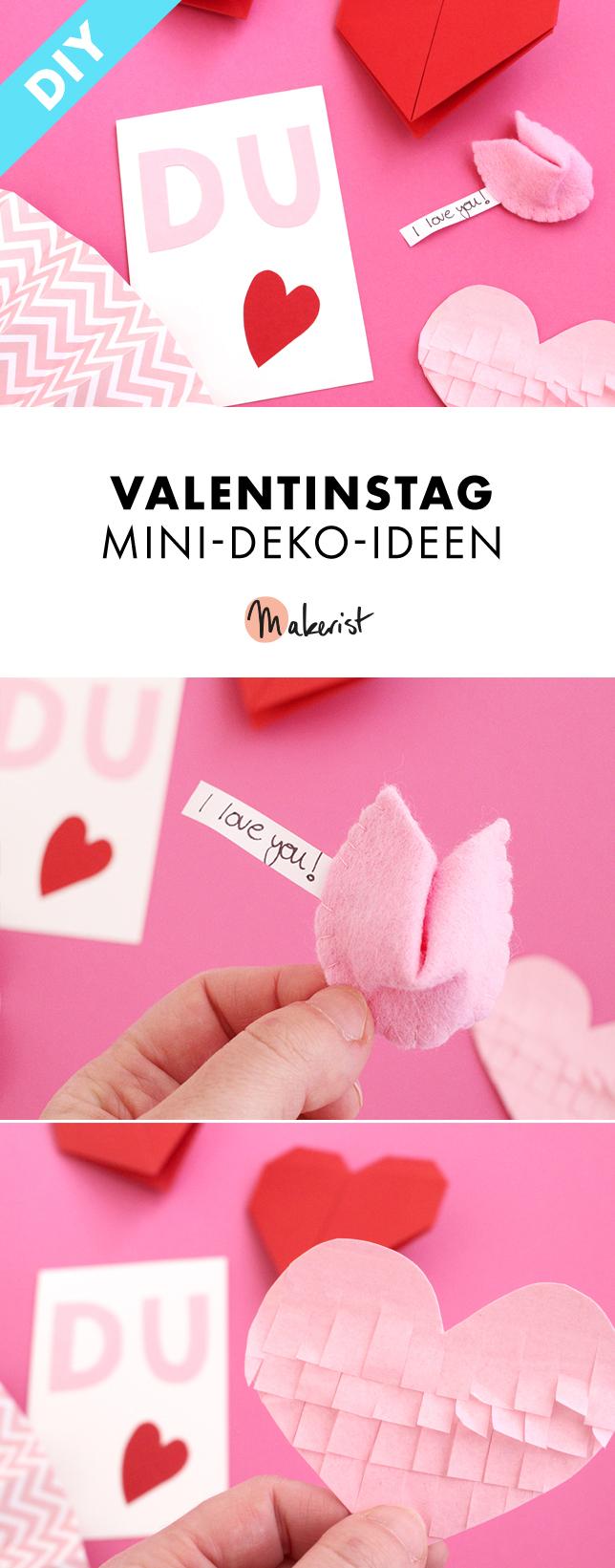 Makerist valentinstag mini deko ideen
